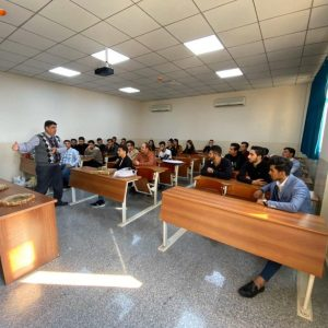 Communication and computer engineering department held a meeting party for the first level students.