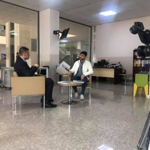 A television interview with the head of the accounting department a lecturer Omid Ibrahim Hussein