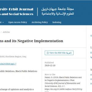 Scientific research was published at the Cihan University Journal of Human Sciences