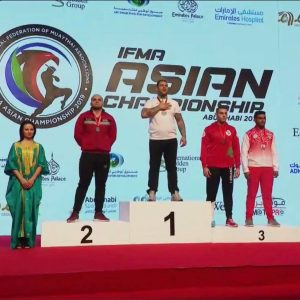 The student Abdullah Fouad Hussein, from the department of sports became the Asian champion