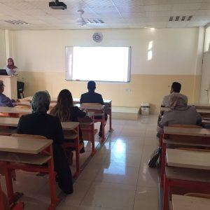 Conducting a Seminar at Department of English