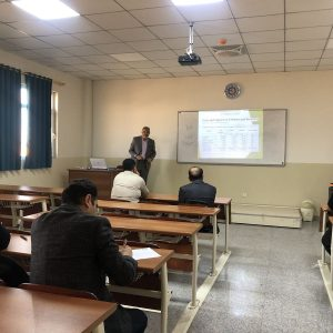 Presenting a seminar on Green Life by One of computer science teaching staff