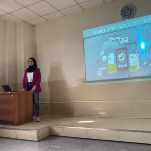 The fourth stage students presenting seminars