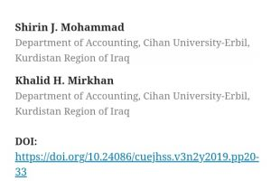 cihan university , research publish (1)