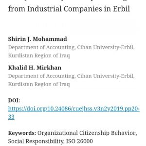 publishing Scientific research on Cihan University-Erbil Journal of Humanities and Social Sciences