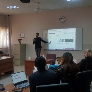 Seminar delivered by a teacher from the Department of Banking and Finance  Sciences