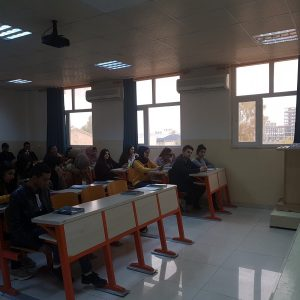 Holding a debate about Healthy Life Style at the department of English