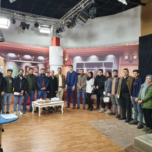 The First Year students of the sport department visited Cihan TV& Radio