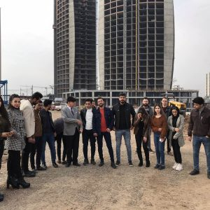 Department of Civil Engineering Scientific Trip to the Empire Construction Company- Diamond Towers Project in Erbil