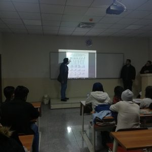 Presenting  architectural standards report by the First stage students