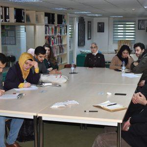 Participating in workshop at Kurdistan University