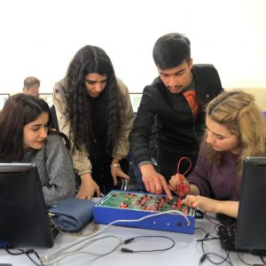 Students' Practical Activity on Designing and Implementing Mathematical Logic Circuits
