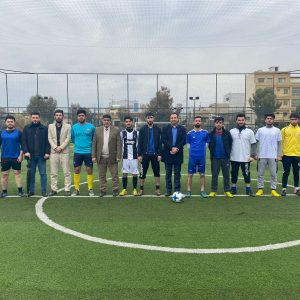 Friendly football match between students of communication and computer engineering department.