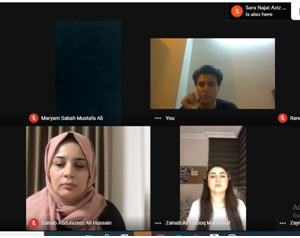 Online meeting with 2nd year students