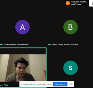 Online meeting with 3rd year students