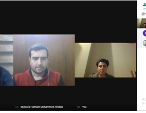 Interior Design Department Online E-learning committee meeting