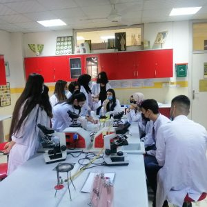 Practical training for students of the second and third stage on food safety test and inspections