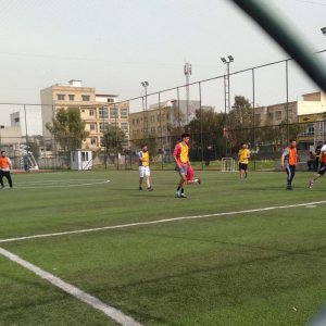 Supervising the friendly matches that took place between students of different departments at Cihan University
