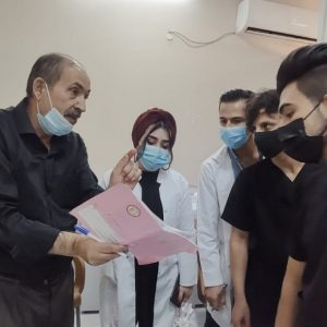 Students of community health department conducted a scientific visit