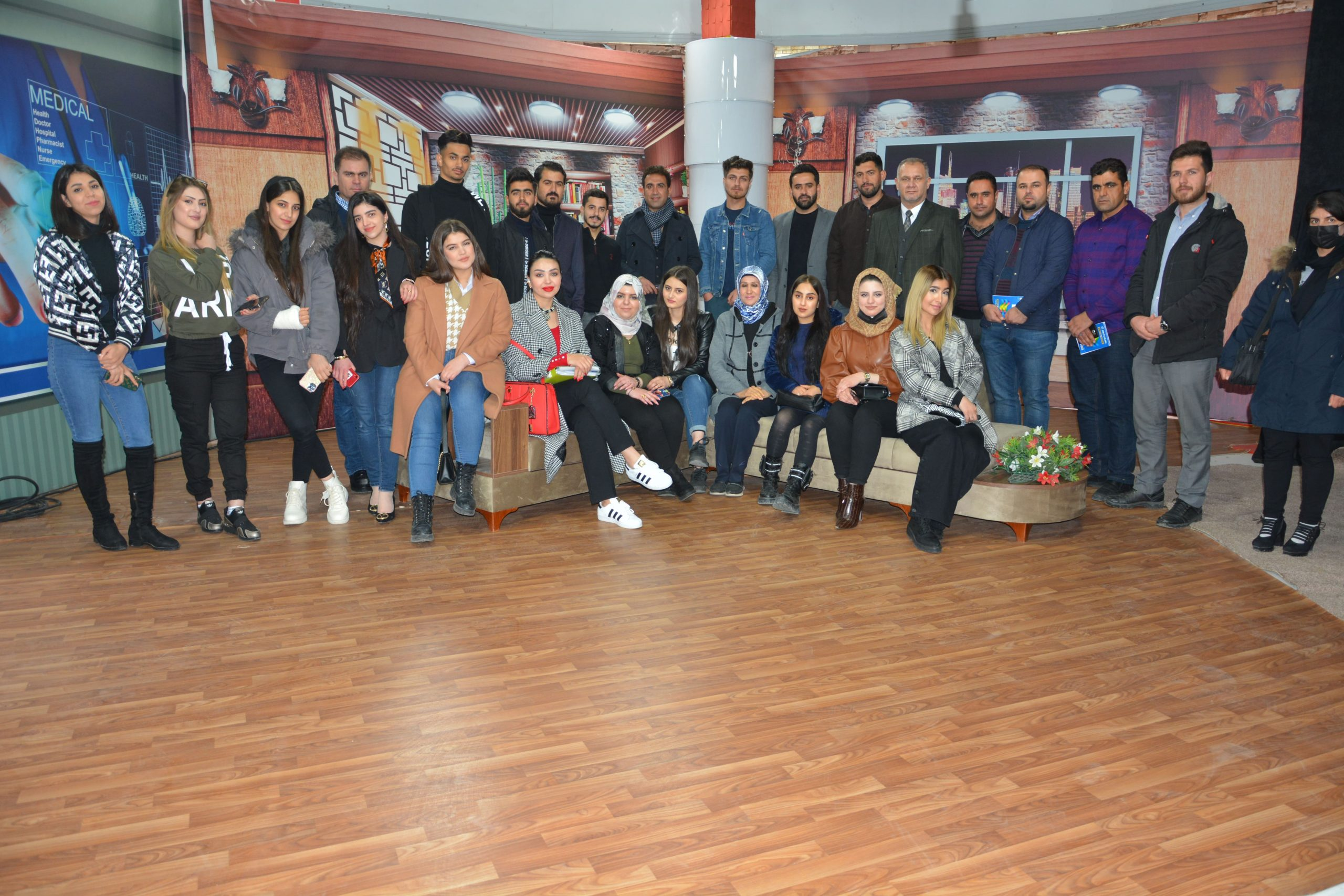 The students of Media Department visited Cihan University Television and Radio studios
