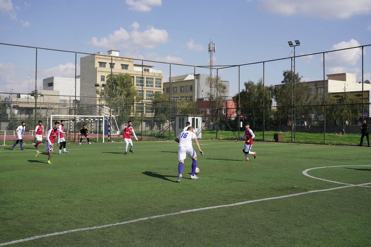 Opening of the Football League for matches between Departments of Cihan University-Erbil