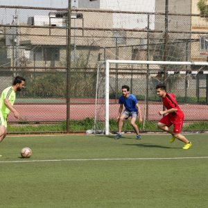 The team of the Department of Physical Education and Sports Sciences beat the team of the Department of Microbiology