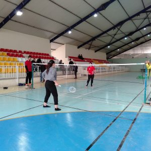 Semi-final match of Badminton for female students of the Department of Physical Education and Sports Sciences