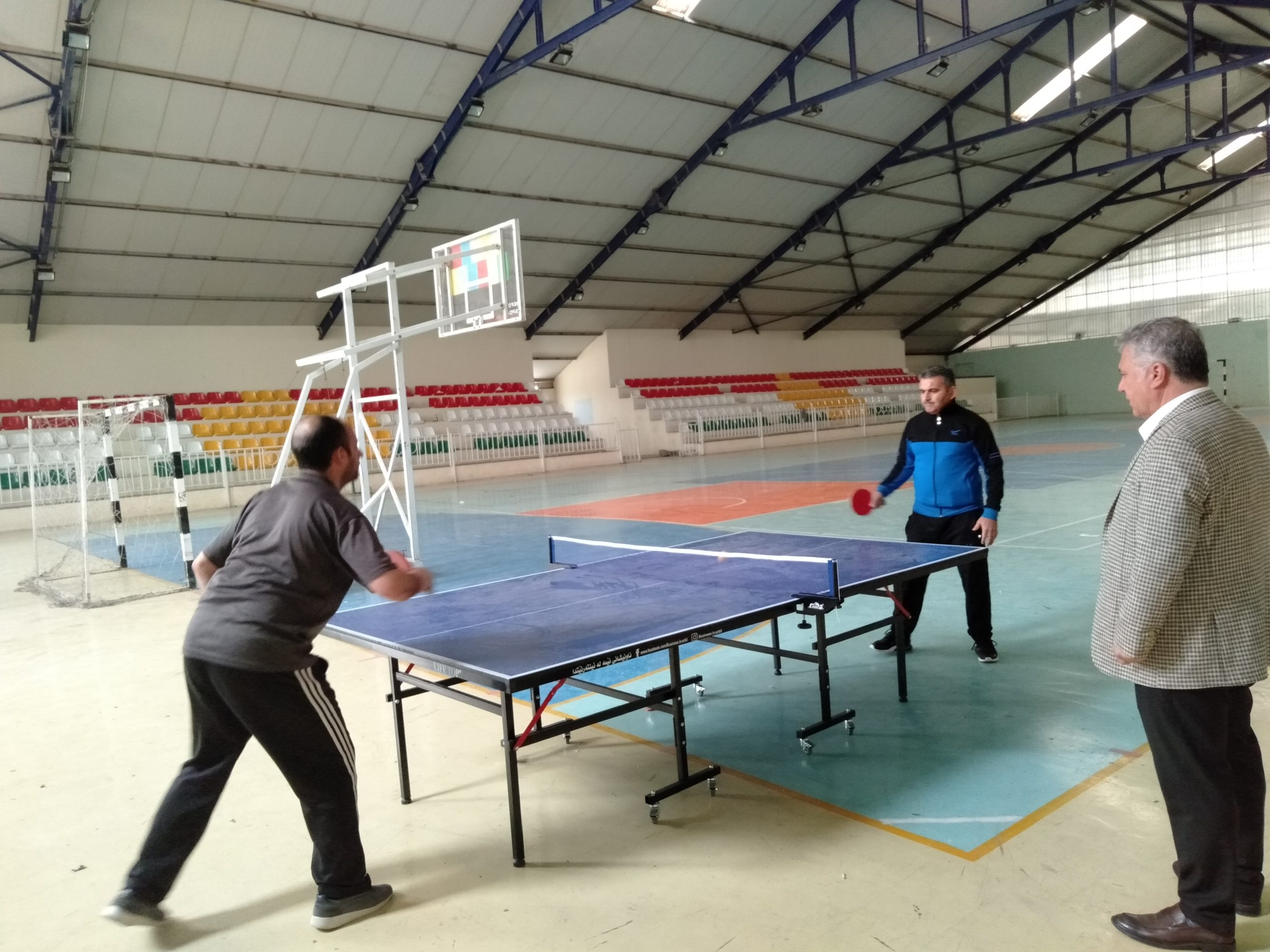 The final matches of the League of Teachers and Staff table Tennis