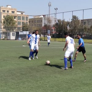 The football team of the Department of Communication and Computer Engineering beat the team of the Department of Physical Education and Sport Science