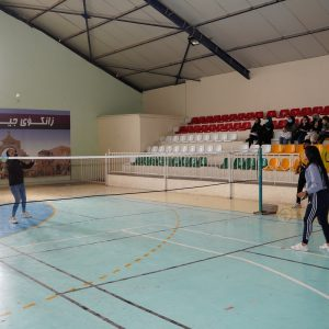 Badminton Match for female students in different departments of Cihan University-Erbil