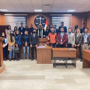 First-stage students visit the court