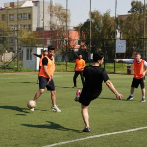 English Department Team Wins over Media Department Football Team