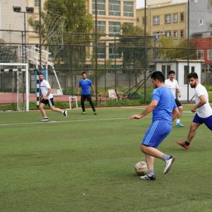 The team of the department of business management won over the team of the department of community health football