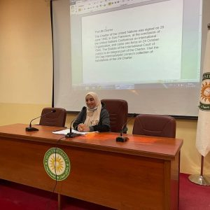A seminar on Paris Agreement in the department of International Relations and Diplomacy