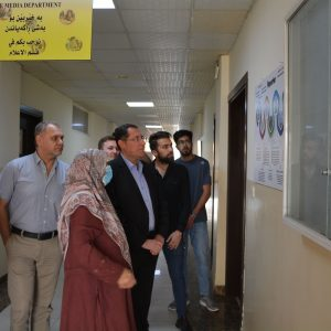 Opening the permanent exhibition of media posters in the Department of Media