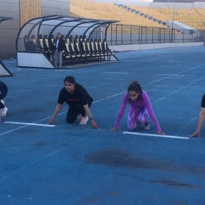 Women's team preparations for Arena and field games