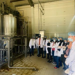 A scientific visit to the Dairy Product DLBA factory