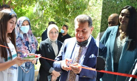 The President of Cihan University – Erbil Opens an Art Exhibition for a student in Department of Media