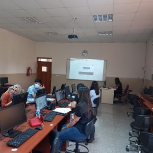Practical training for students of the accounting department on the use of accounting softwares